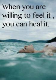willing to feel to heal